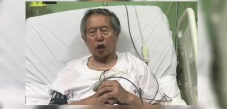 Fujimori recibió el Año Nuevo en libertad pero hospitalizado