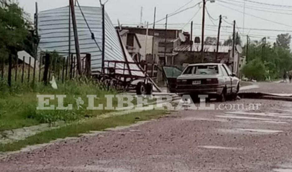 IMÁGENES | Bandera fue sorprendida por un violento temporal de agua granizo y viento