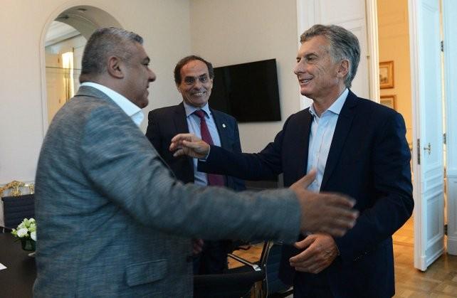 Tapia se reunió con el presidente Macri en la Casa Rosada