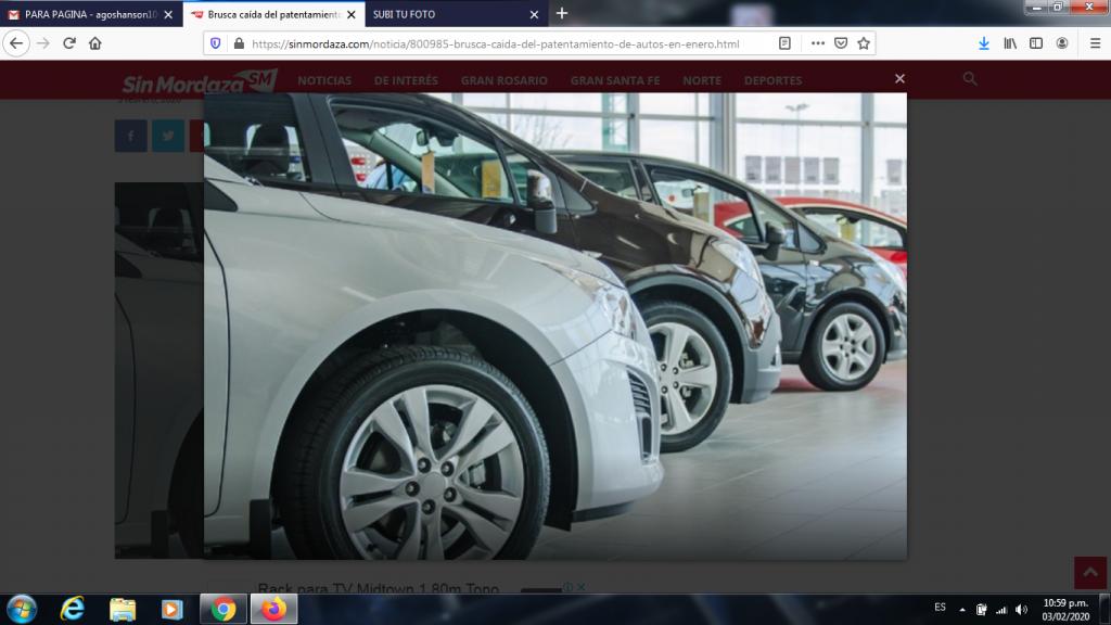 Brusca caída del patentamiento de autos en enero