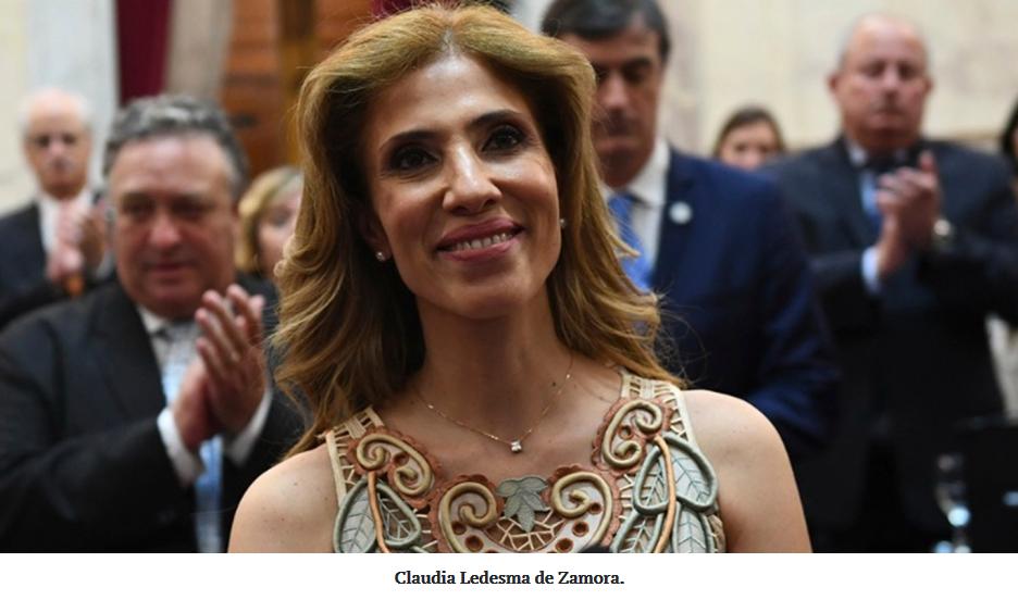 Claudia Ledesma de Zamora será presidenta por un día