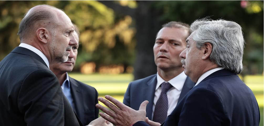 Perotti se reunión con Alberto Fernández y funcionarios nacionales