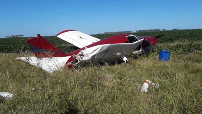 Hallaron una avioneta abandonada en el departamento San Justo