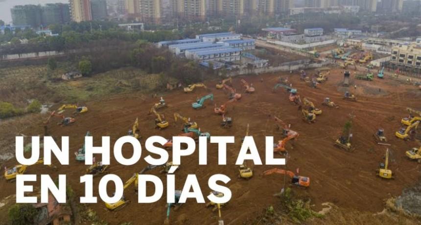 Cómo China levantó en diez días un hospital para el coronavirus