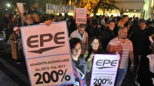 Fuerte reclamo multisectorial para que la EPE dé marcha atrás con los últimos tarifazos