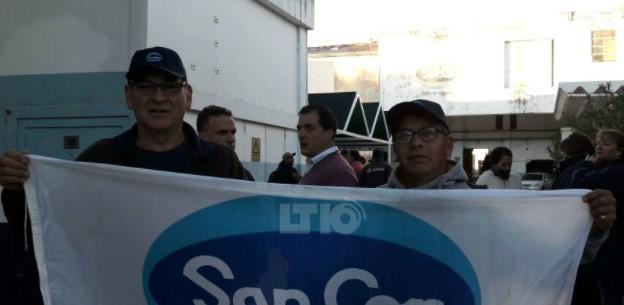 Trabajadores de SanCor acampan en la planta de nuestra ciudad