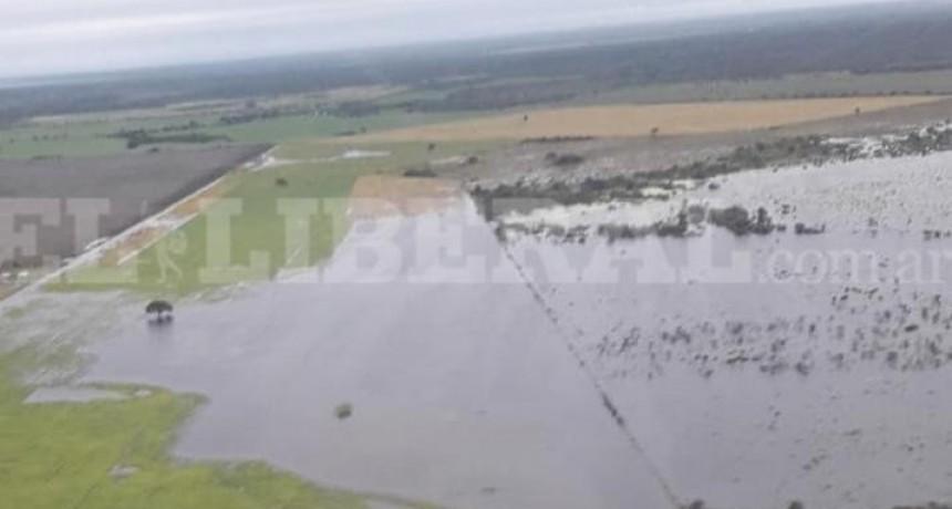 Así continúan las zonas inundadas en el sudeste de Santiago del Estero