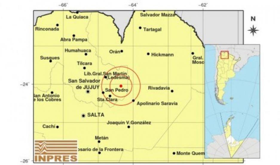 Fuerte movimiento sísmico en Jujuy