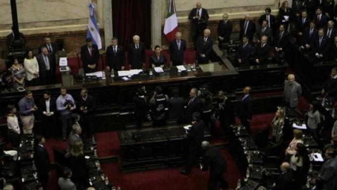 El senador Zamora participó de la recepción del Congreso al presidente de Italia, Mattarella