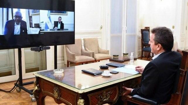 Massa le agradeció a un funcionario norteamericano por el apoyo a la Argentina ante el FMI