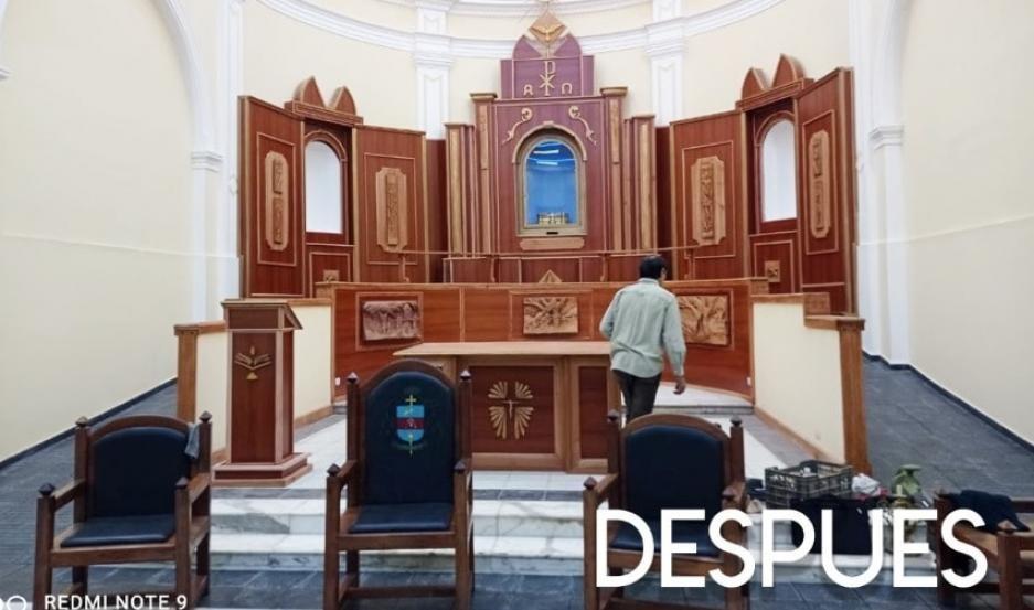 Más linda que nunca: así luce la iglesia de Villa Mailín tras la restauración