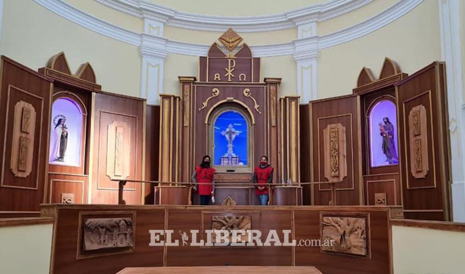 Se inició el Triduo en honor al Señor de los Milagros de Mailín