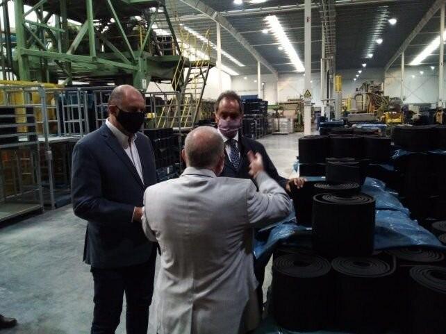 Perotti recorrió con el embajador Scioli empresas de la región que anunciaron inversiones