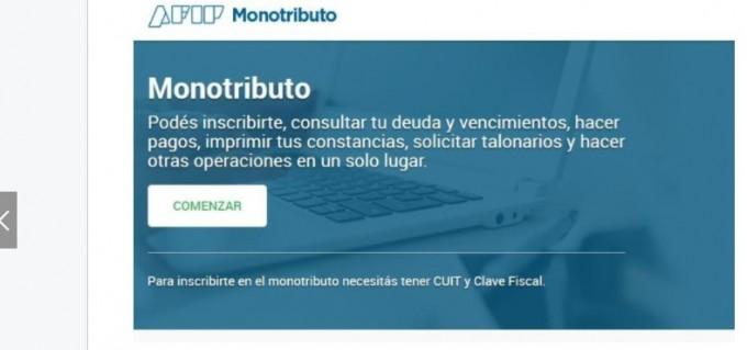 Monotributistas tendrán una web exclusiva para sus trámites