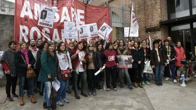 Amsafé Rosario se movilizó por mejores condiciones edilicias y contra la violencia