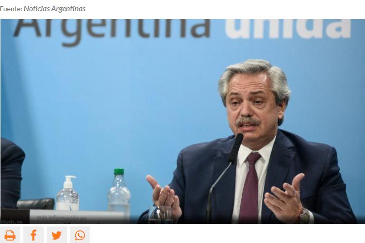 Denunciaron penalmente a Alberto Fernández por