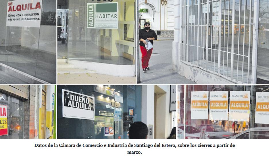 Señalan que hay más de 150 comercios que ya cerraron en Santiago