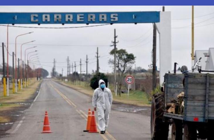 La localidad de Carreras sumó esta mañana otros dos casos de coronavirus
