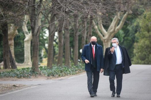 Reunión entre el Presidente y Perotti en la Quinta de Olivos por la pandemia