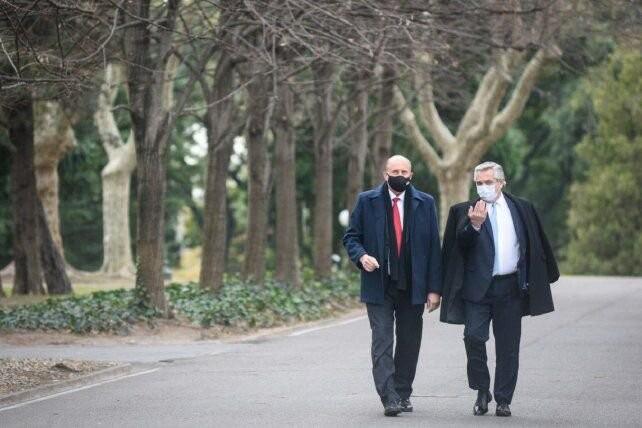 La foto de Alberto y Perotti, en la calma que antecede al huracán electoral