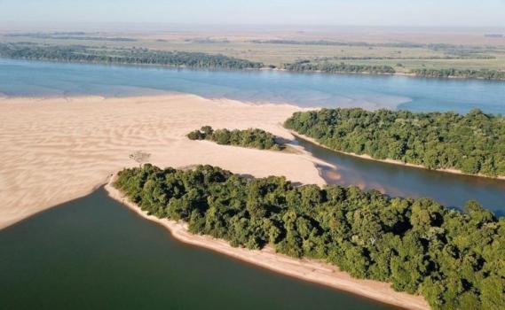 El Río Paraná volvió a descender y llegó a su nivel más bajo desde 1971