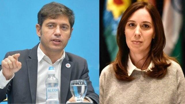 Axel Kicillof acusó a María Eugenia Vidal de repartir