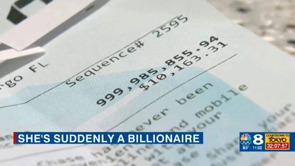 Fue a retirar dinero del cajero y el saldo de su cuenta tenía mil millones de dólares