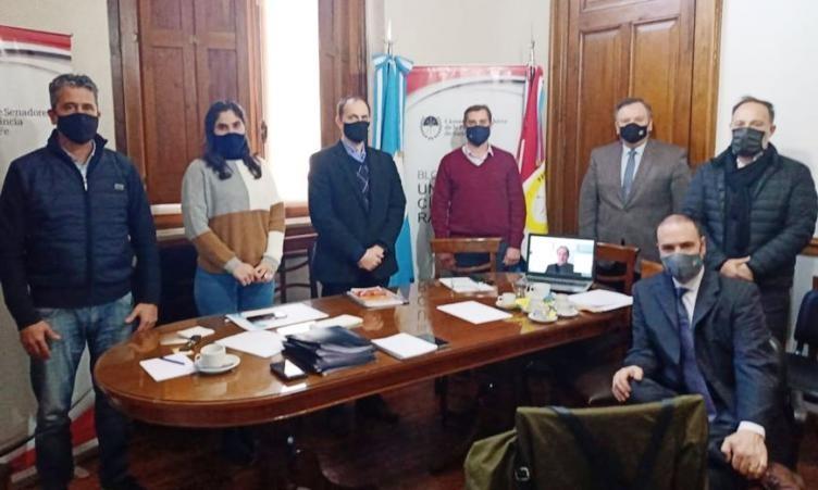 El Bloque de Senadores de la UCR recibió al Ministro Danilo Capitani