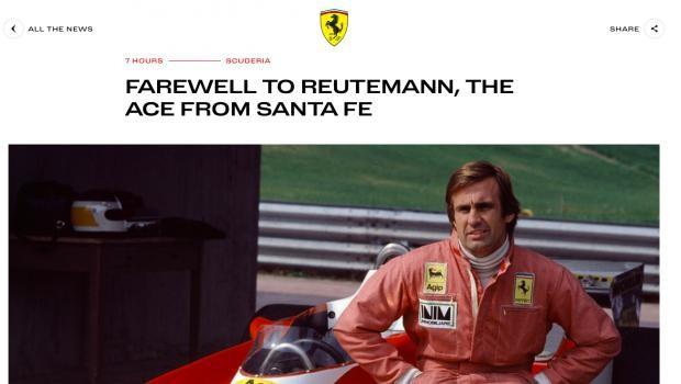 Ferrari despidió a Reutemann: