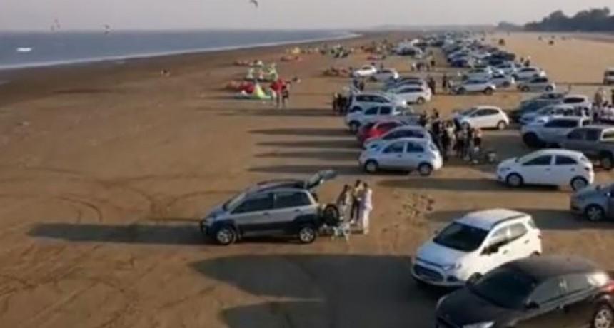 En un día, llegaron a El Chaquito 2500 autos desde Santa Fe: las autoridades piden responsabilidad