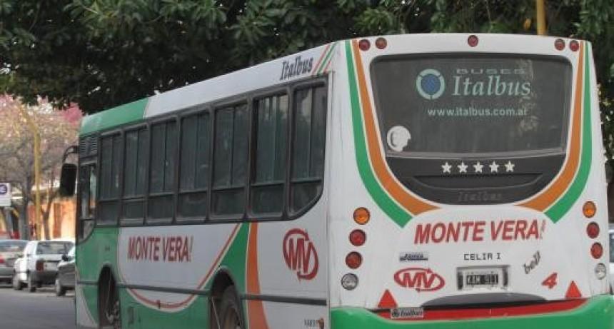 Ante la suba de contagios, los colectivos Monte Vera suspenden el servicio por 14 días