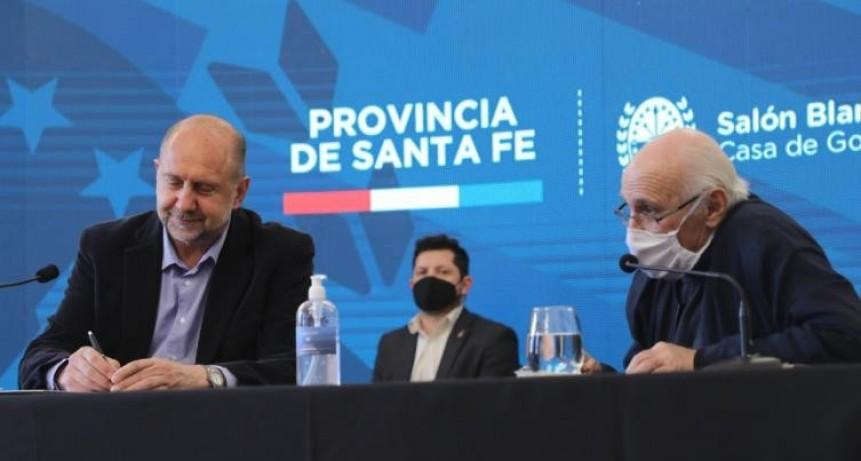 Perotti firmó un convenio para construir 200 casas