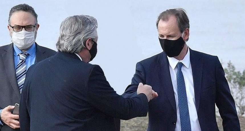 El gobernador de Entre Ríos, Gustavo Bordet, tiene coronavirus: el viernes estuvo con Alberto Fernández