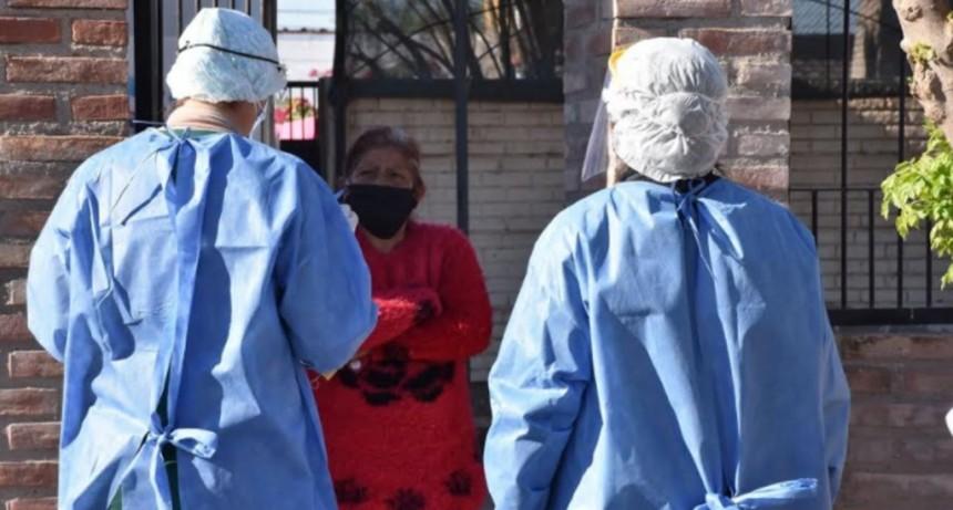 Coronavirus en Santiago: efectuaron operativo de búsqueda activa de personas con síntomas en el Bº Villa del Carmen