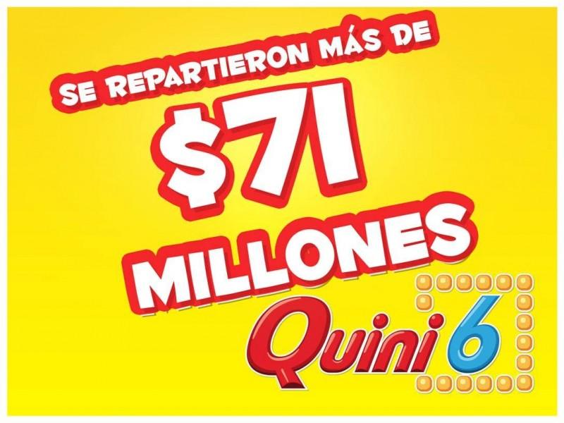 Se repartieron más de $71 millones en el Quini 6