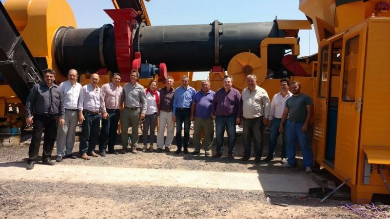 En San Cristóbal quedó inaugurada una nueva Planta Asfáltica de la DPV