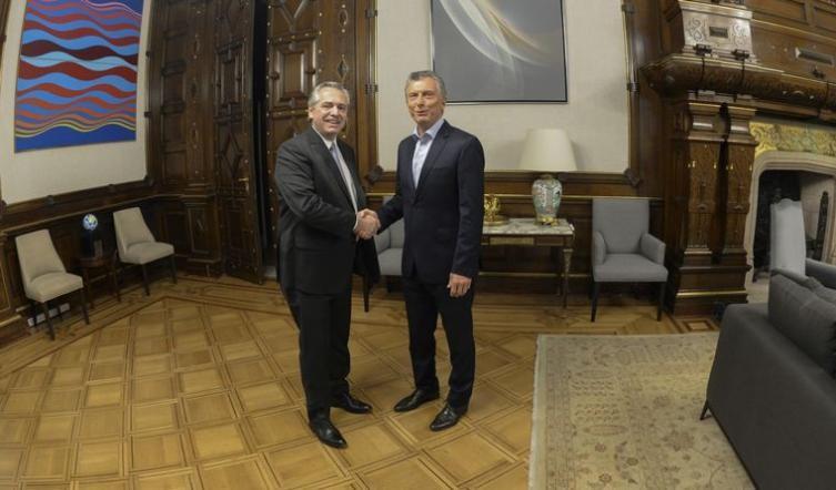 La foto de la transición: Alberto Fernández y Mauricio Macri