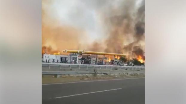 Impresionante video de los incendios en la autopista Córdoba-Carlos Paz