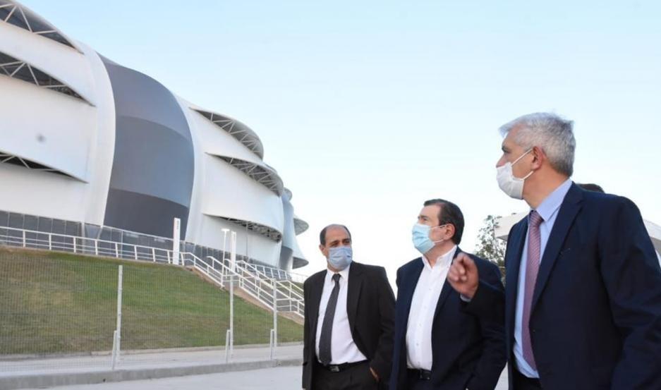 El ministro Domínguez visitó el Nodo Tecnológico y junto al gobernador Zamora el Estadio Único