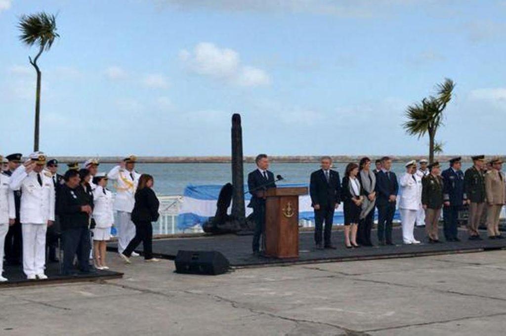 Macri en el homenaje a los tripulantes del ARA San Juan: