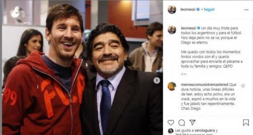Messi despidió a Maradona: