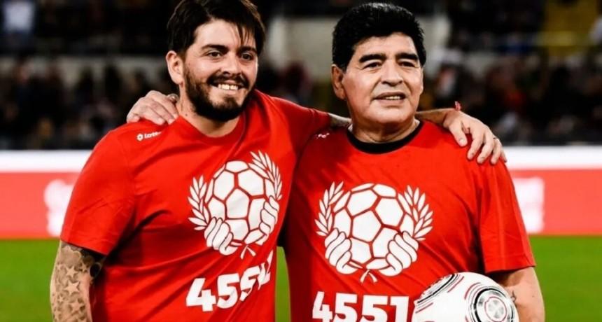La despedida de Diego Maradona Jr a su padre: