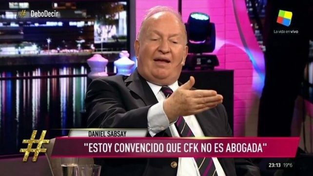Sabsay dijo que está convencido que Cristina no es abogada