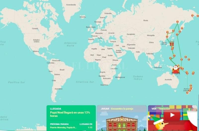 ¿Dónde está Papa Noel en este momento?