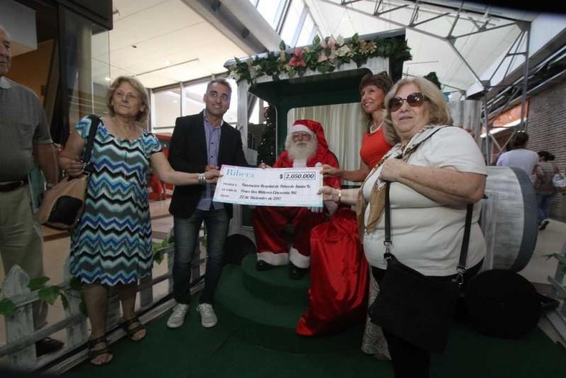 Ribera Shopping donó $ 2 millones a la Fundación del Hospital de Niños
