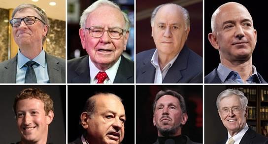 Estas son las 10 personas más millonarias del planeta