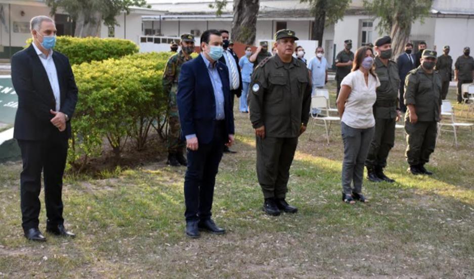 El gobernador Zamora participó, junto a la ministra Frederic, del homenaje a gendarmes