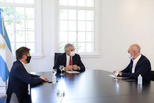 Ante el aumento de casos, el Presidente, Kicillof y Larreta llamaron a extremar cuidados