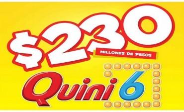 El Quini 6 continúa creciendo y se viene con $230 millones