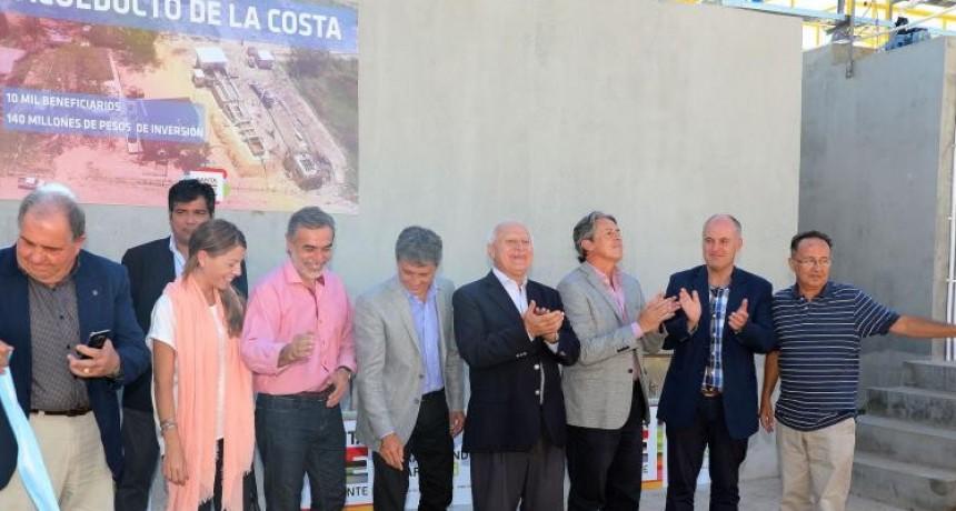 Lifschitz inauguró el Acueducto de La Costa